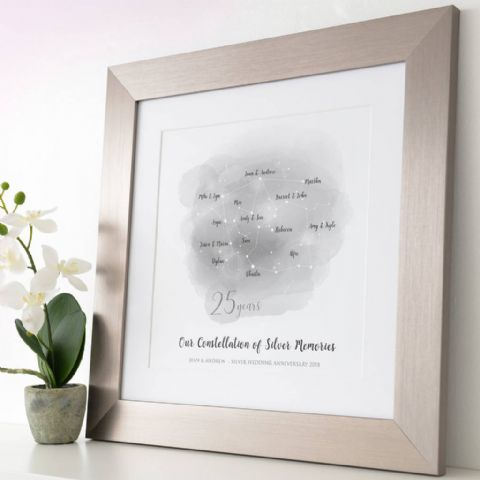 Personalised Silver Anniversary Family Constellation